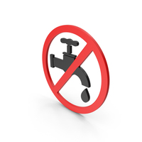 Symbol Save Water Red PNG & PSD Images