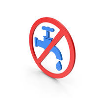 Symbol Save Water Blue PNG & PSD Images