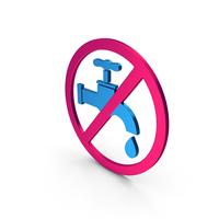 Symbol Save Water Metallic PNG & PSD Images