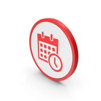 Icon Date And Time Red PNG & PSD Images