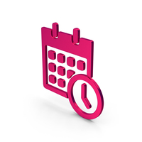 Symbol Date And Time Metallic PNG & PSD Images