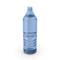 Water Plastic Bottle Blue Opened PNG & PSD Images