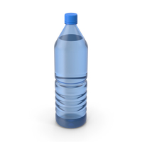 Water Plastic Bottle Blue No Label PNG & PSD Images