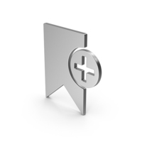 Symbol Add Bookmark Silver PNG & PSD Images