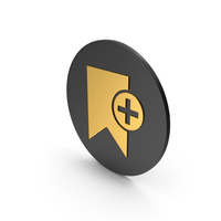 Add Bookmark Gold Icon PNG & PSD Images