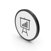 Icon Graph Presentation Board PNG & PSD Images