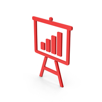 Graph Presentation Board Red Symbol PNG & PSD Images