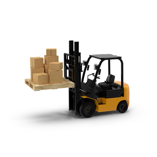 Forklift Pallet and Boxes PNG & PSD Images