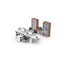 Quadruple Desk Set Object