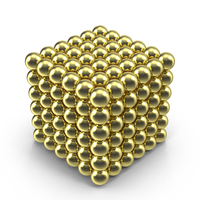 Golden NeoCube PNG & PSD Images