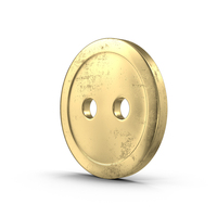 Aged Brass Button PNG & PSD Images