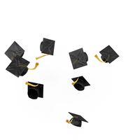 Graduation Mortarboard Cap Toss PNG & PSD Images