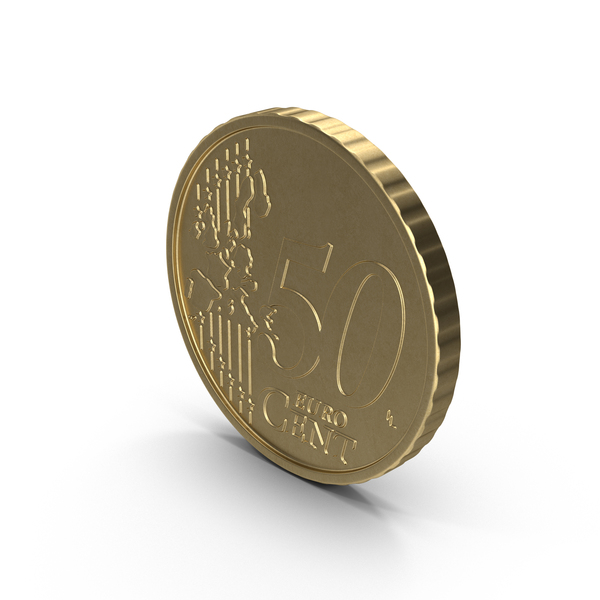 French 50 Cent Euro Coin Object