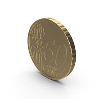 Spain Euro Coin 50 Cent PNG & PSD Images