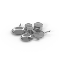 Stainless Steel Kitchen Cookware Set PNG & PSD Images