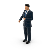 Miniature Businessman Object