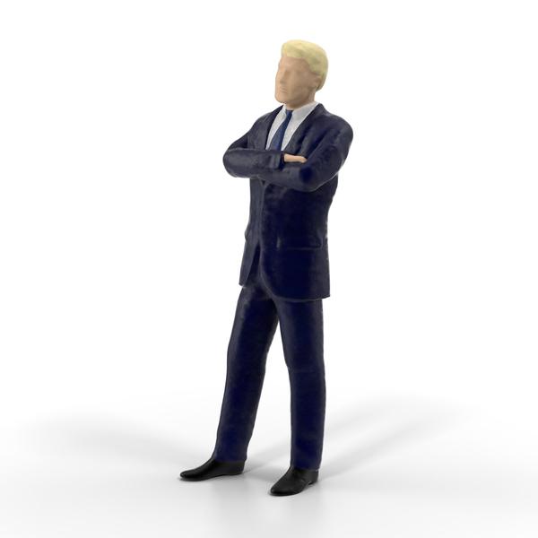 Miniature Buisiness Man Object