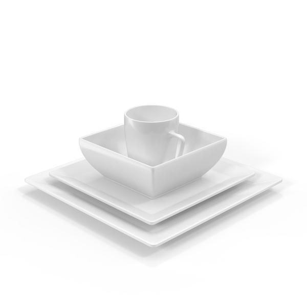 Dishware Set 01 PNG & PSD Images