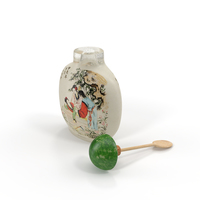 Chinese Snuff Bottle With Spoon PNG & PSD Images