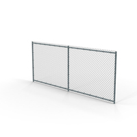 Chain Link Fence Sections PNG & PSD Images