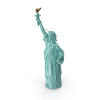 Low Poly Statue of Liberty PNG & PSD Images