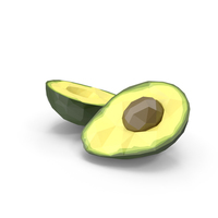 Low Poly Split Avocado PNG & PSD Images