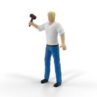 Miniature Man at Work PNG & PSD Images