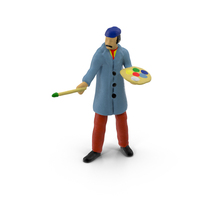 Miniature Toy Artist PNG & PSD Images