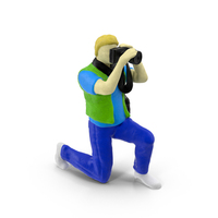 Miniature Toy Photographer PNG & PSD Images