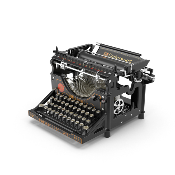 Underwood Typewriter Object