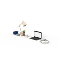 Book, Desk Lamp, Laptop and Office Supplies PNG & PSD Images