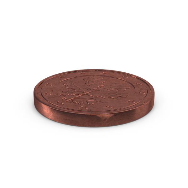 1 Cent Euro Coin Object