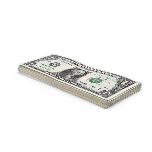 1 Dollar Bill Stack PNG & PSD Images