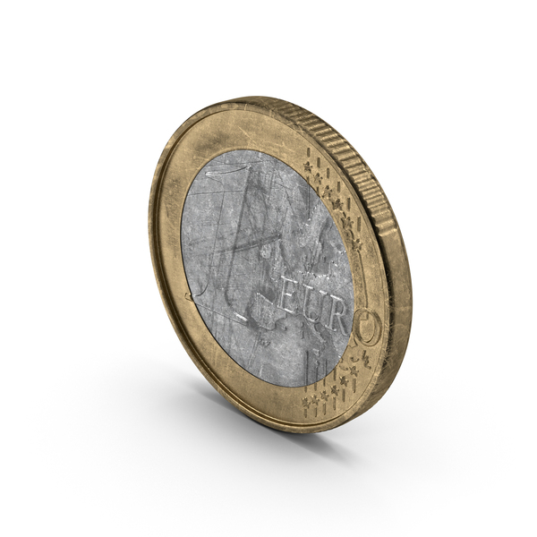 1 Euro Coin German Aged PNG & PSD Images