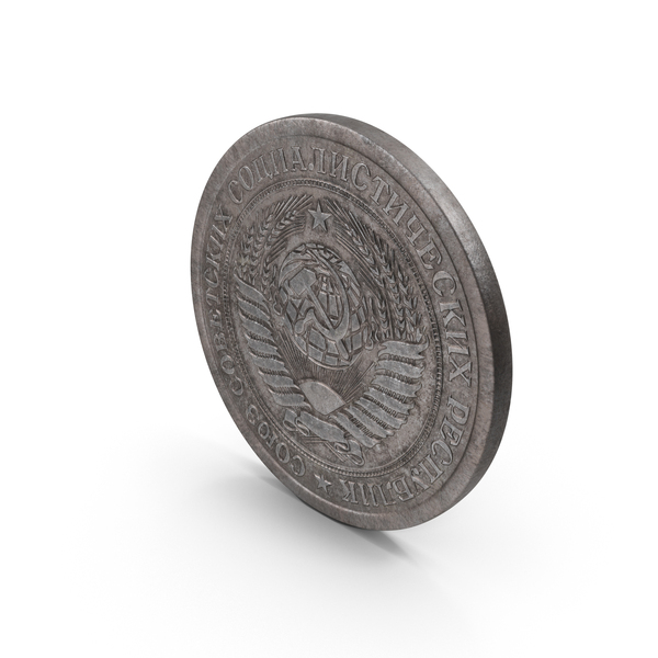 1 Ruble Coin Aged Object