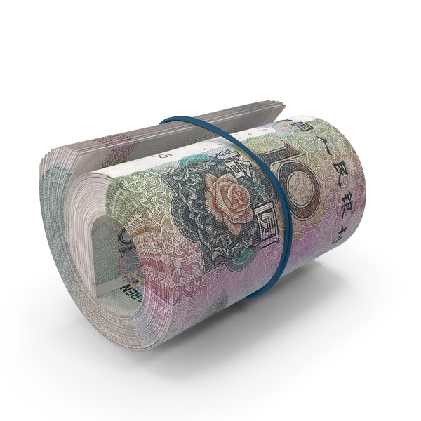 10 Chinese Yuan Banknote Roll PNG & PSD Images