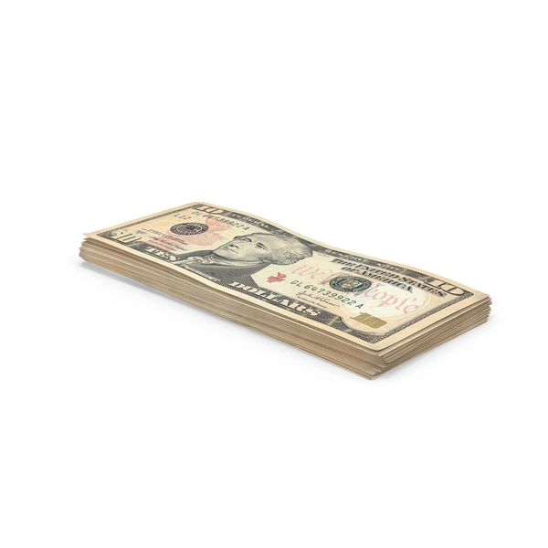 10 Dollar Bill Stack Object