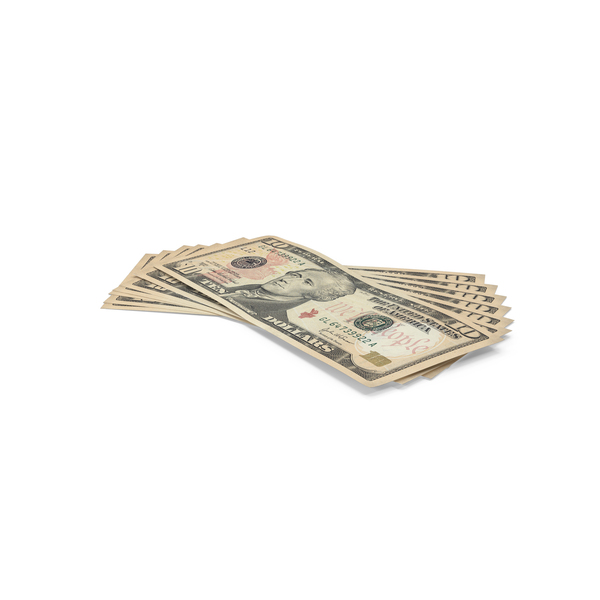 Usa Banknote: 10 Dollar Bills Object