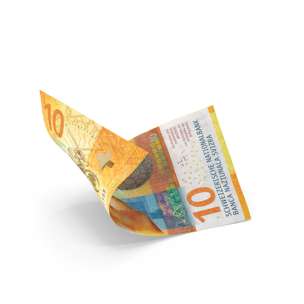10 Swiss Franc Banknote Bill PNG & PSD Images