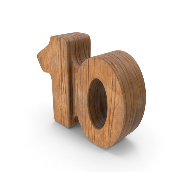 10 Wooden Number PNG & PSD Images