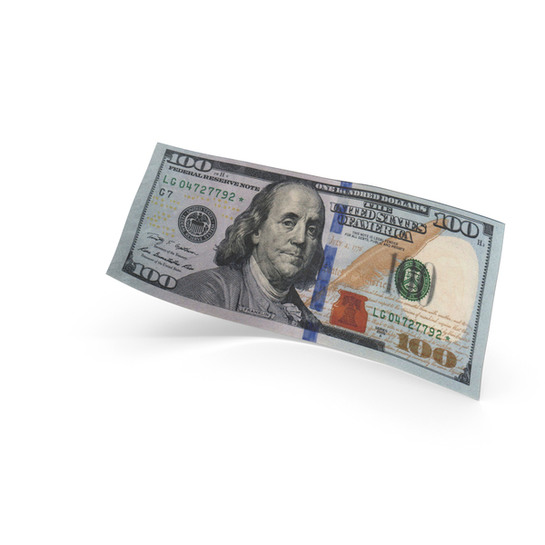 One Hundred: 100 Dollar Banknote Bill PNG & PSD Images