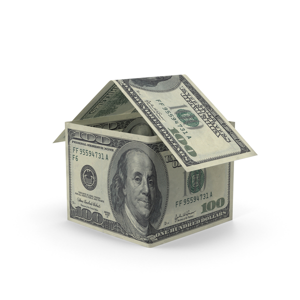 100 Dollar Bill House Object