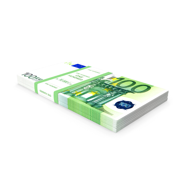 100 Euro Bundle Banknotes PNG & PSD Images