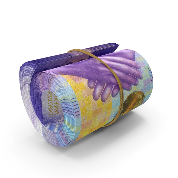 Banknote: 1000 Swiss Franc Roll PNG & PSD Images