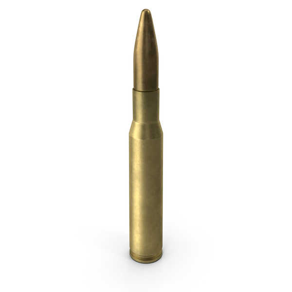 7.62x51: 12.7х99 (.50) BMG NATO Cartridge PNG & PSD Images