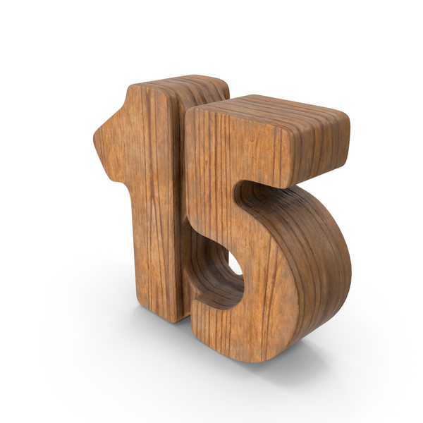 15 Wooden Number PNG & PSD Images