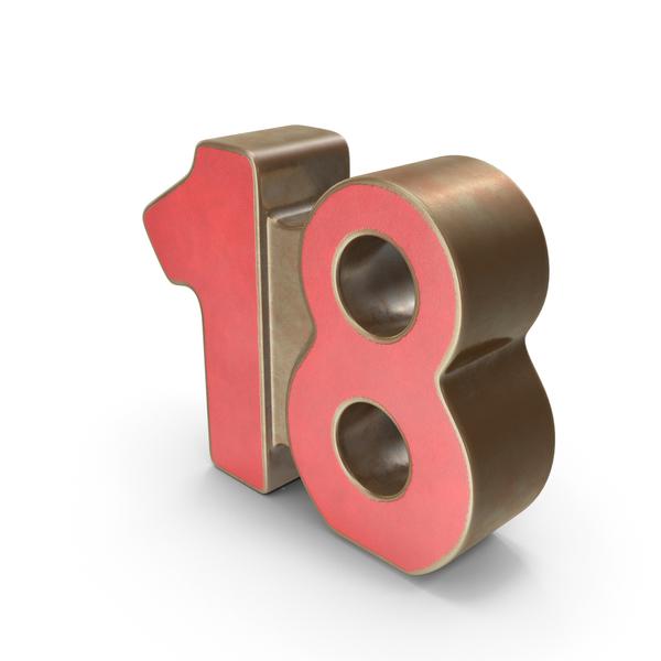 18 Metal Number PNG & PSD Images