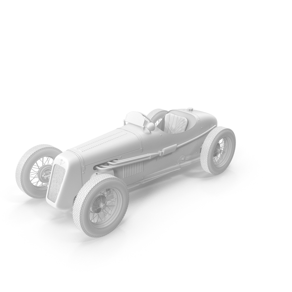 1930 Austin Seven Special Monoposto Pure white PNG & PSD Images