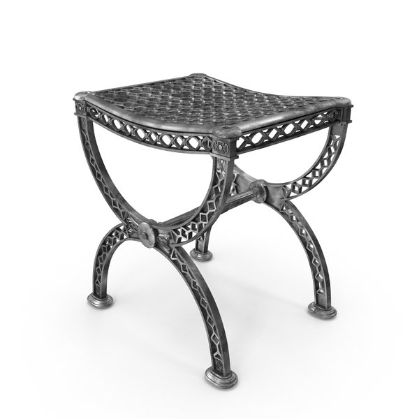 19th Century Filigree Stool PNG & PSD Images