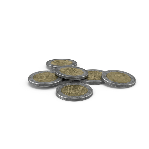 2 Euro Coins Collection PNG & PSD Images